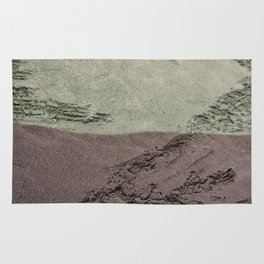Sea Green Waves on Concrete Rug
