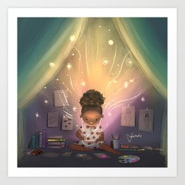 Creative Space Art Print