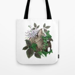 Brush Bunny Tote Bag