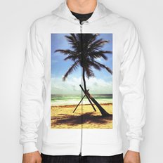 Palm on the beach. Hoody