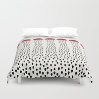 watermelon Duvet Covers featuring watermelon by singingsaw