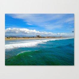 Huntington Beach Surfers Canvas Print