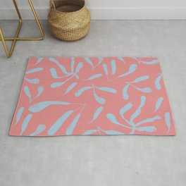 Autumn is here and its warm - pink and light blues #417 Rug