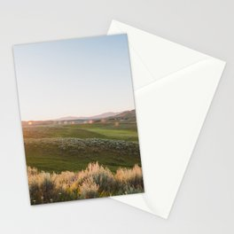 Hayden Valley Sunset - Yellowstone National Park Photography Stationery Cards