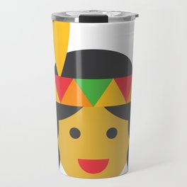 a native american girl Travel Mug