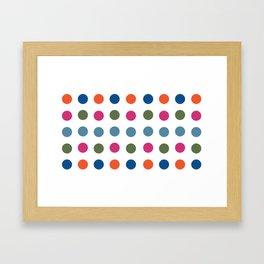 Colorful Regularity Framed Art Print