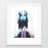alcohol Framed Art Prints featuring Alcohol dependence by laurensmorin
