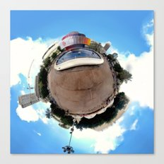 Around Tel Aviv Stereographic Panorama of Dizengoff Center Canvas Print