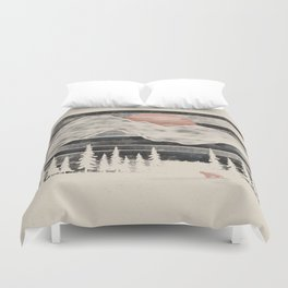 Mountain Lion at Midnight... Duvet Cover