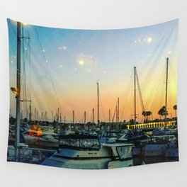 Boats at Sunset -Ava Photography Wall Tapestry