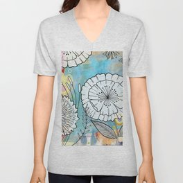 Petunia and Aster Unisex V-Neck