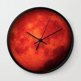 Super bloody moon Wall Clock