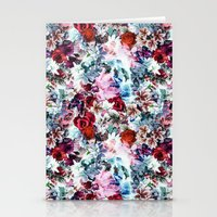 floral pattern Stationery Cards featuring Floral Pattern by Eduardo Doreni