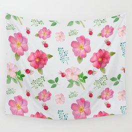 Rosehip Spring Garden Floral Pattern Wall Tapestry