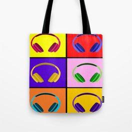 Pop Art Headphones Tote Bag