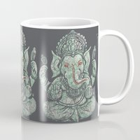 ganesha Mugs featuring Ganesha by Thomcat23