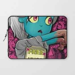 Free Hugs Walking Dead Zombie Girl Laptop Sleeve