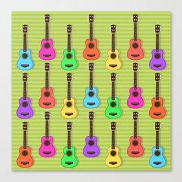 Fun colorful Ukuele Pattern Canvas Print