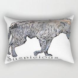 Suspicious Rectangular Pillow