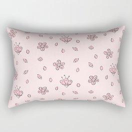 Sweet Sakura Smiles - Springtime - Blushing Pink Rectangular Pillow