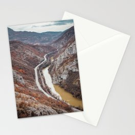 Beautiful picture of the canyon in Serbia. Dramatic sky and mountains Stationery Cards