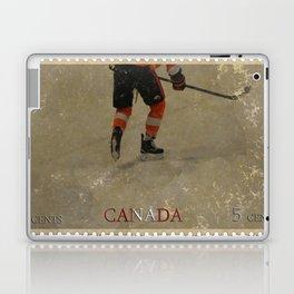 Taking to the Ice - Ice Hockey Postage Stamp Art Laptop & iPad Skin