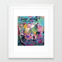 sonic youth Framed Art Prints featuring Sonic Youth by Aim High Art