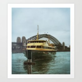Manly Ferry Study Art Print