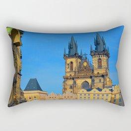 Prague Astronomical Clock Rectangular Pillow