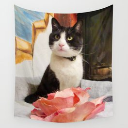 Orazio the charming cat Wall Tapestry