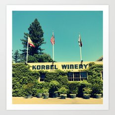 Korbel Winery Art Print