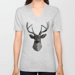Deer Antlers Unisex V-Neck