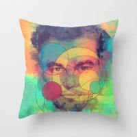leonardo dicaprio Throw Pillows featuring Leonardo Dicaprio by Rene Alberto