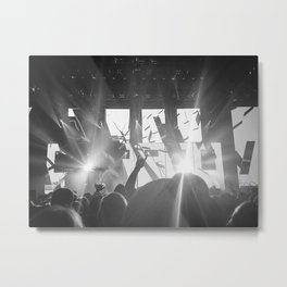 Bright Lights and Loud Music Metal Print
