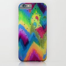 BOLD QUOTATION 2 - Colorful Bright Cheerful Fine Art Chevron Pattern Ikat Quote Modern Painting iPhone 6s Slim Case
