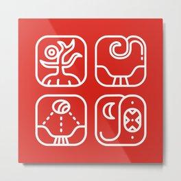 Mayan Glyphs ~ Nature Metal Print