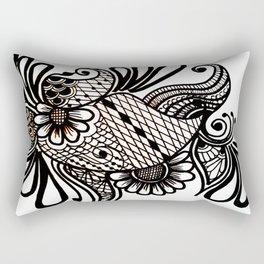 floralblack Rectangular Pillow