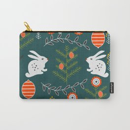 Winter holidays with bunnies Carry-All Pouch