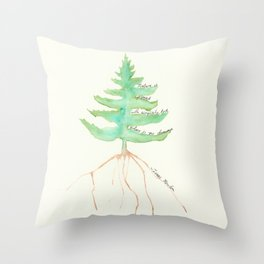 Tree with Isaac Newton Quote Throw Pillow