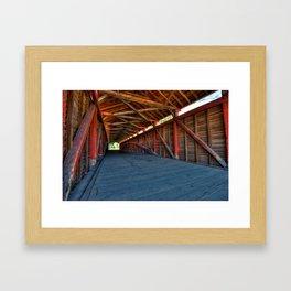 Wooden Tunnel - Barrackville Covered Bridges West Virginia Framed Art Print