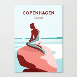 LITTLE MERMAID - COPENHAGEN Canvas Print