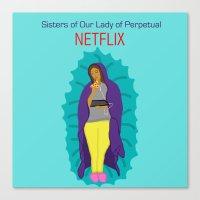 netflix Canvas Prints featuring Netflix Nuns by KatieBellProductions