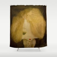 doll Shower Curtains featuring Vintage Doll by Victoria Herrera