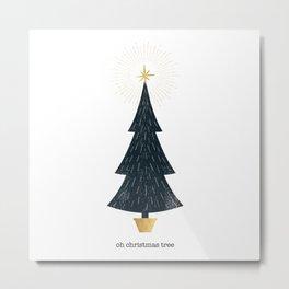 Christmas Tree Print Metal Print