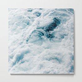 sea - midnight blue storm Metal Print