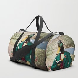 Monsieur Mallard Reading an Improving Book Duffle Bag