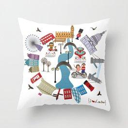 I {❤} London Throw Pillow