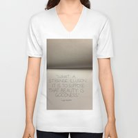 illusion V-neck T-shirts featuring illusion by Elizabeth Jaros