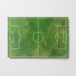 Football Field - Graphic Illustration Metal Print