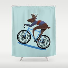 'Tis the season to be cycling Shower Curtain